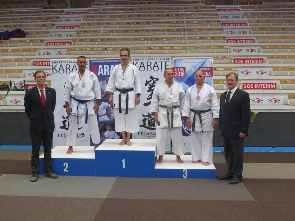 Championnat de France Vétéran 2016 podium 1